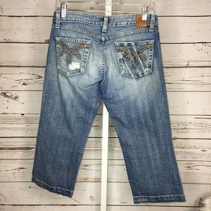 BKE womans cropped jeans size 27